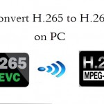Transcode H.265 to H.264 for Watching and Editing