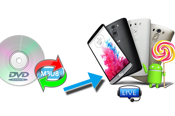 Convert DVD to M3U8 format for HTTP Live Streaming with Android   i