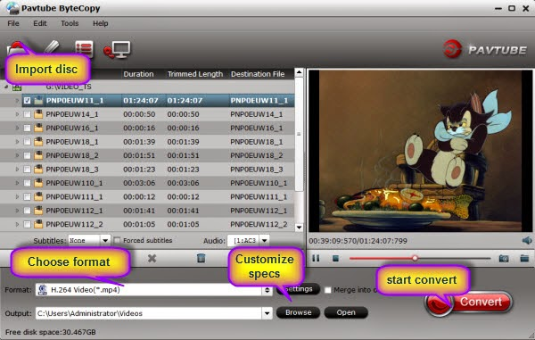 load dvd interface