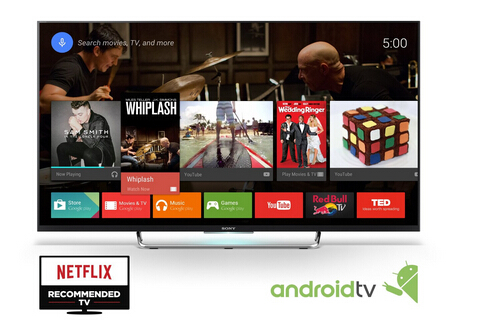 sony sony kdl50w800c features google s android tv plex movie streaming