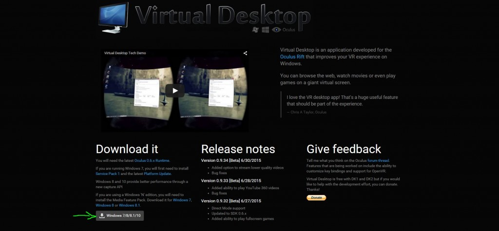 install virtual desktop app