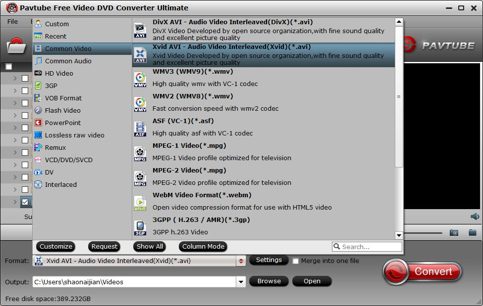 Pavtube Free DVD Video Converter