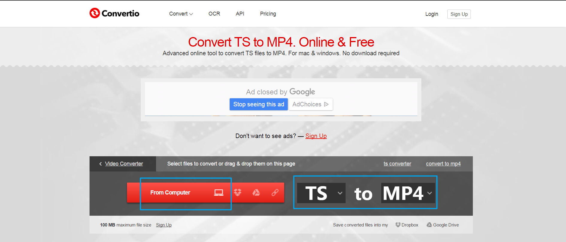 online ts to mp4 converter